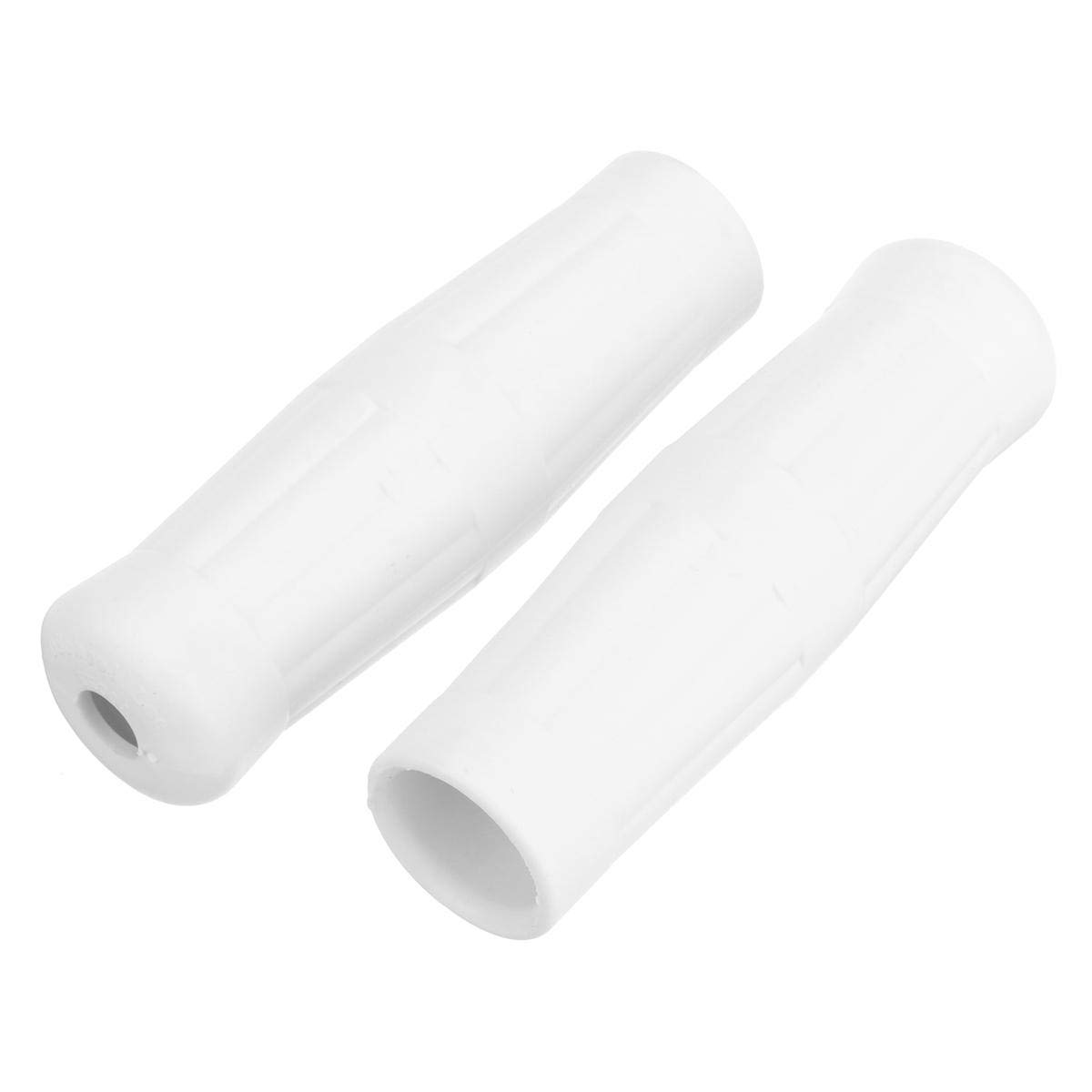 C-FUNN 25mm 1 inch Motorcycle GOtage Classic Coke Bottle Handlebar Rubber Hand Grips White
