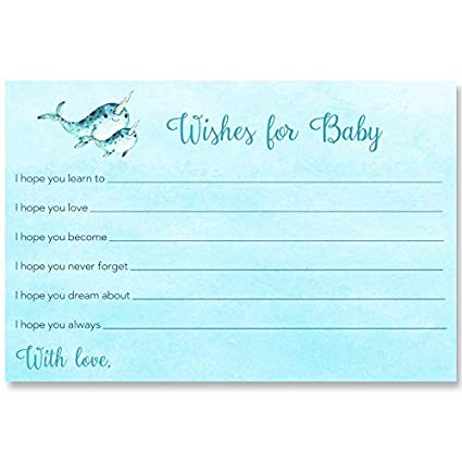 Amazon Com Narwhal Baby Shower Wishes For Baby Mommy And Me Boys