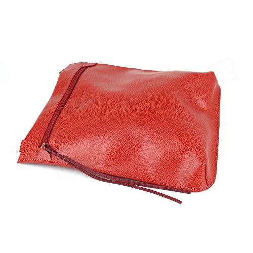 Grande Besace cuir Rouge Beaubourg