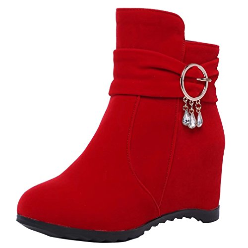 AIYOUMEI Women's AIYOUMEI Women's Classic Classic Boot Boot Red Red AIYOUMEI qXUxw