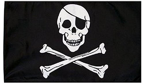 Hidden Treasure Pirate Costumes (Pirate Flag - Skull and Crossbones Flag - Pirate Party Supplies - Flags by Funny Party Hats)