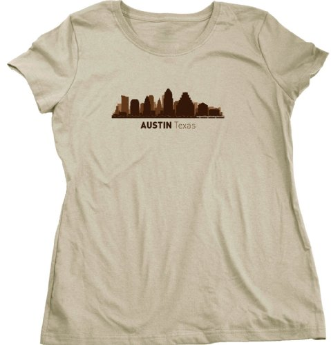 Austin, TX City Skyline Ladies Cut T-shirt Texas Hometown Pride Tee