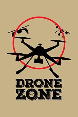 Drone Zone: Blank 5x5 grid squared engineering graph paper journal to write in - quadrille coordinate notebook for math and science students