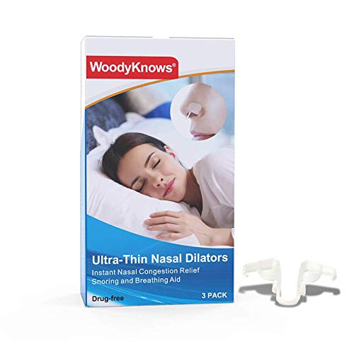 WoodyKnows Inner Nasal Strips for Better Breathing and Sleeping, Nose Congestion Relief, Ultra-Thin Model, Moderate Expansion