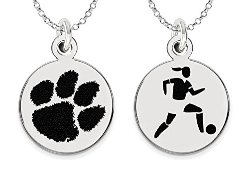 Clemson University Tigers Women's Soccer Charm Necklace by College Jewelry