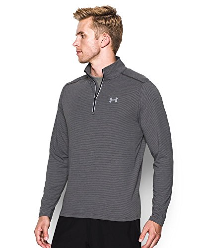 Under Armour Men's Streaker Run 1/4 Zip , Carbon Heather (090)/Reflective, Small by Under Armour (Image #2)