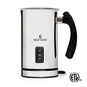 Automatic Milk Frother, Heater and Cappuccino Maker Stainless Steel Milk Steamer Machine for Cold or Hot Milk, Espresso, Chocolate, Coffee, Foamer, Easy to Use, Sturdy & Silent for Home Or Café
