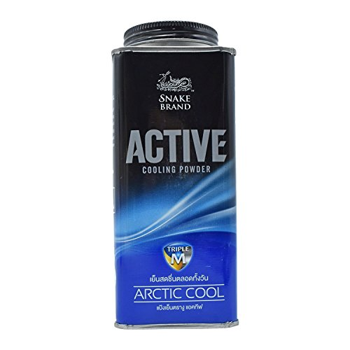 New Active Prickly Heat Cooling Powder Heat Rash Treatment Hot Weather (20 x 140 Grams, Arctic Cool) by Snake Brand (Image #1)