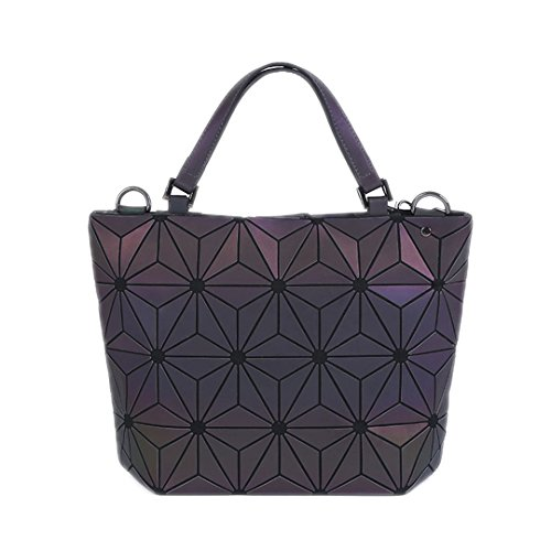 Briefcase Bolsos de hombro acolchados Geometry Tote Geometry Bolsos plegables Llanos de láserStyle E Big Style E Big