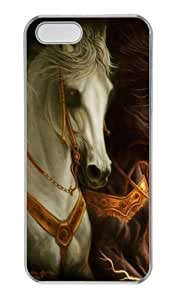 3D horse 3 PC Transparent grove iphone 5 case for Apple iPhone 5/5S wangjiang maoyi
