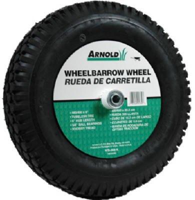 Arnold Contractor Wheelbarrow Knobby Tread 4.80 / 4.00 - 8 16'' Dia