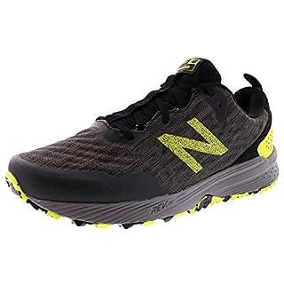 New Balance Men's Nitrel V3 Trail Running Shoe, Black/Yellow, 12 M US