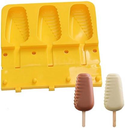 Molde de helado para hacer polos y helados, moldes de goma de ...
