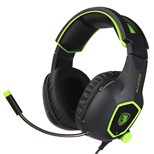 SADES SA818 Xbox One Mic PS4 PC Gaming Headset Gaming Over Ear Headphones with Mic for PS4, PS4 PRO, Xbox One, Xbox One S,Laptop Mac Tablet iPhone iPad iPod(Camouflage) (Halo 4 Headset)