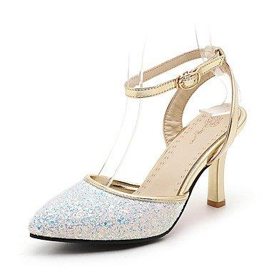 LvYuan MujerOtro Zapatos del club D'Orsay y Dos Piezas-Sandalias-Boda Vestido Fiesta y Noche-Semicuero-Negro Rosa Blanco Black