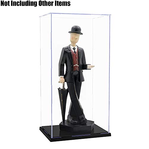 Tingacraft Acrylic Display Case/Box (7.2 x 5.6 x 14.6 inch) Self-Assembly Dustproof for 1/6 Figure