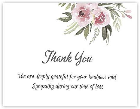 4 Sympathy Card Bereavement Card Sympathy kondolenz Card Envelope Cherry Blossom