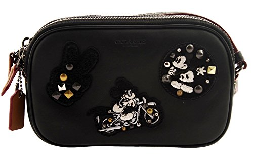 Coach MICKEY Crossbody Pouch in Glove Calf Leather Saddle...