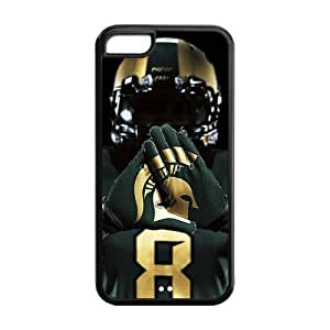 NCAA Michigan State Spartans Jersey Logo Hard Case Cover for iPhone 5c, Black