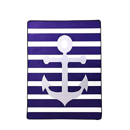 USTIDE Nautical Anchor Kids Rug 5'x7' Mediterranean Area Rug