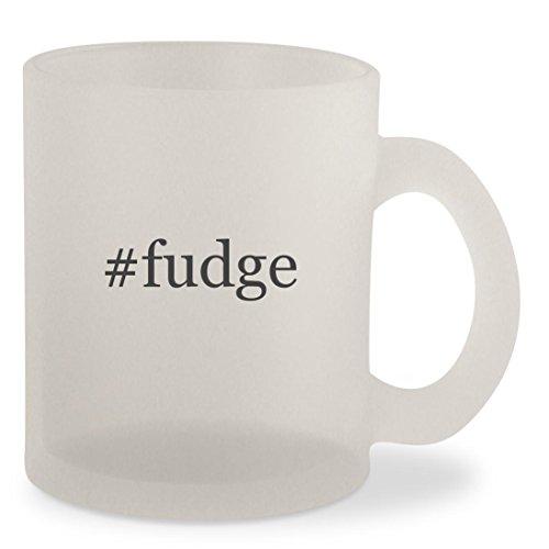 #fudge - Hashtag Frosted 10oz Glass Coffee Cup Mug (Fudge Free Vanilla Sugar)