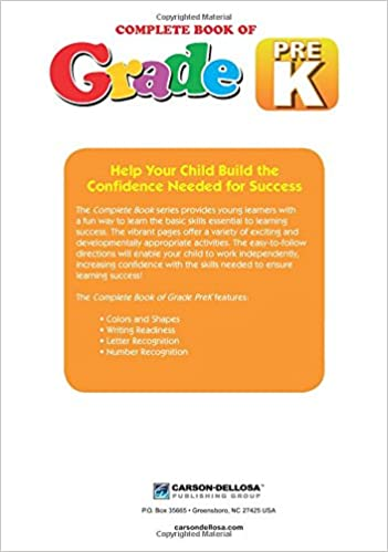 Amazon.com: Complete Book of PreK (9781483813042): Thinking Kids ...