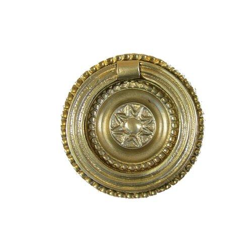 Imex der Fuchs b-76521/Zugband Ring mit Platte Messing Glanz, 40/mm