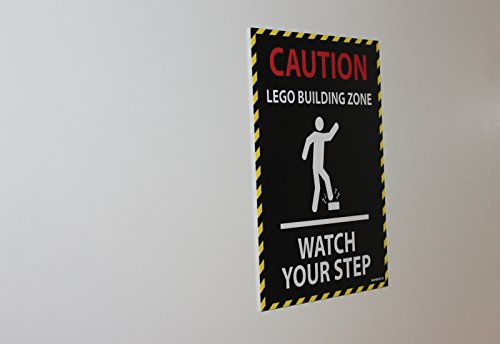 LEGO CAUTION A4 SIGN - Watch your step
