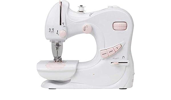 Máquina de coser portátil, linterna incorporada de coser eléctrica máquina de escritorio de doble propósito máquina ...