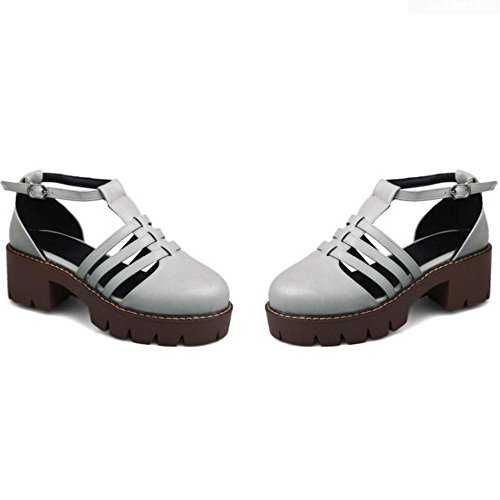Bombas Mujer Coolcept 1 Zapatos T Strap Gray qPwxfw4td