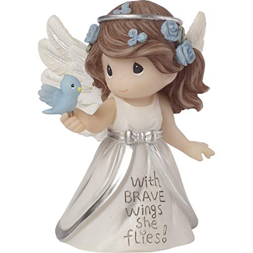 (Precious Moments Inspirational Angels with Brave Wings She Flies Resin 183428 Figurine One Size Multi)