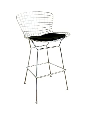 baxton studio taddeo mesh bar stool with leatherette seat pad
