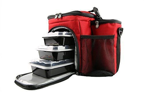 Isobag 3 Meal System - Reverse Color Red/Black Accent ;P#O455K5/U 7RK-B233590 (Isobag Meal 3 System)