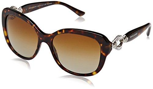 Bvlgari BV8180B 504/T5 Dark Havana BV8180B Square Sunglasses Polarised Lens - Polarized Sunglasses Bvlgari