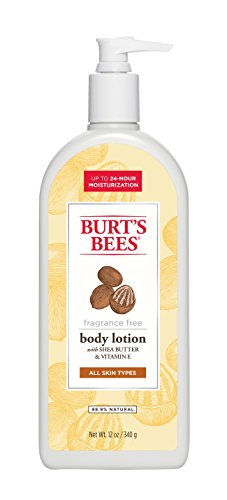 Burt's Bees Fragrance Free Shea Butter and Vitamin E Body Lotion - 12 Ounce Bottle