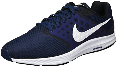 Nike Men's Downshifter 7 Midnight Navy/White Running Shoe 10.5 Men US