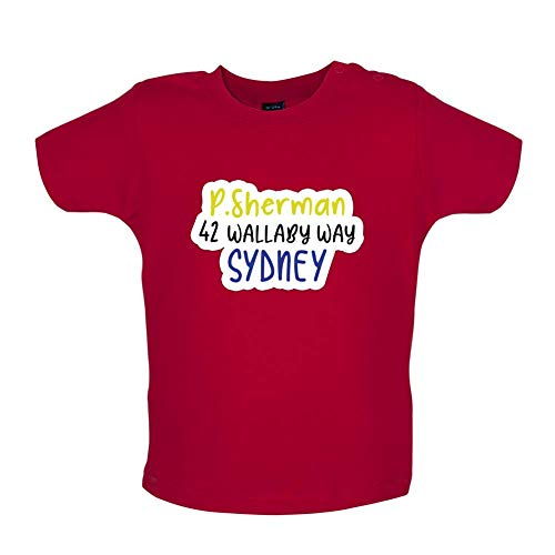P.Sherman 42 Wallaby Way - Baby T-Shirt - Red - 12-18 Months (P Sherman 42 Wallaby Way Sydney Australia)