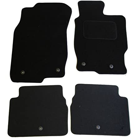 JVL Fully Tailored 2-Piece Car Mat Set with 1 Oval Clip Black