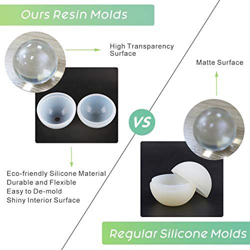 6 Pack Resin Molds Let S Resin Large Clear Diy Silicone