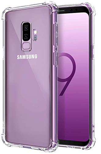 Galaxy S9 Plus Case, Comsoon [Drop Cushion] [Crystal Clear] Soft TPU Bumper Slim Protective Case Cover with Raised Bezels for Samsung Galaxy S9 Plus 2018 (Clear)