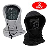 Pack - Full Tactical Balaclava Thermal Fleece Face Mask and Hood - Warm, Breathable, Quality Fabric -Thermal Hood Balaclava- Trespass balaclava for-Snowboarding, Skiing, Fishing, Hiking, Cycling.
