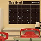 Removable Blackboard Wall Sticker Month Plan Calendar Chalkboard Classroom Kindergarten Home Decor by Completestore