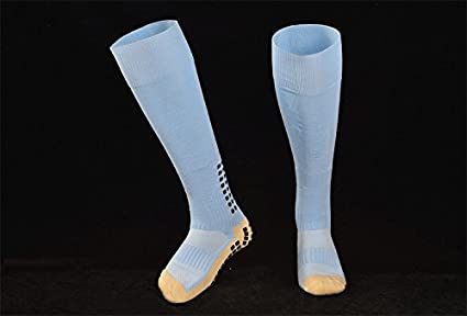 e75fb7c00 Non Slip Soccer Socks Anti Slipping Football Socks Cotton Sport Socks  Trusox Style (Light Blue
