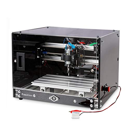 Desktop CNC Router Machine 3018-SE V2 with Enclosure, 3-Axis Engraving Milling Machine for Wood Acrylic Plastics Metal Resin Carving Arts and crafts DIY Design