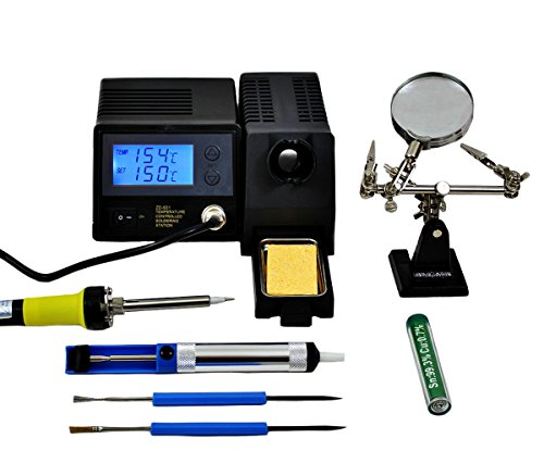 Regelbare digitale Lötstation ZD-931 Kit ESD 48W mit Zubehör