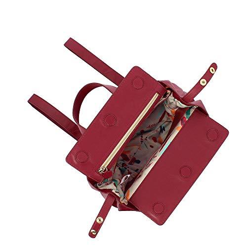 para al 615 mujer 1778 compact 11 Bolso hombro rojo DuDu Rojo de Cuero qOH8Awq