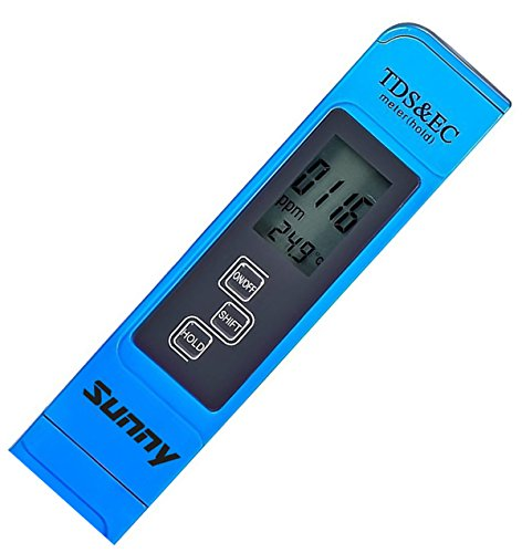 (High Quality Water Test Meter. Professional TDS EC & Temperature Meter. 3-in-1. Lifetime Guarantee! Accurate and Reliable Water Test Meter. With Protective Leather Case.)