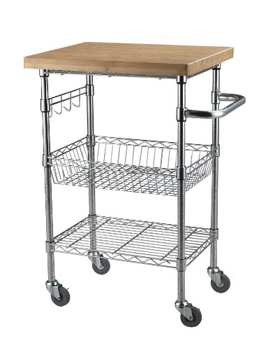 Sandusky Lee MKTBB242036 Bamboo Top Wire Cart, 20