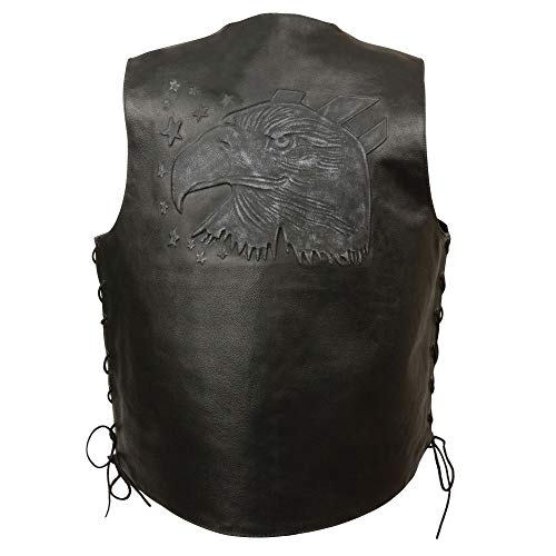Event Leather Men's Eagle/Flag Vest (Black, -
