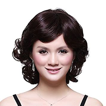 OOFAY JF® Sin tapa corto sintético de grado superior japonesa Kanekalon elegante peluca de lado